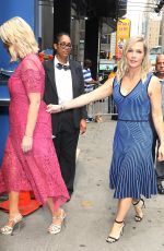 Tori Spelling & Jennie Garth At Strahan & Sara Show in NYC