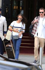 Alicia Vikander & Michael Fassbender Leaving their hotel in Paris