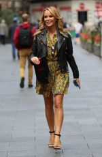 Amanda Holden Outside Global Radio Studios in London