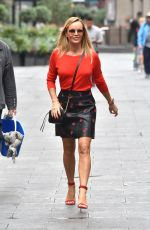 Amanda Holden Pictured leaving the Global Studios after her Heart Radio show