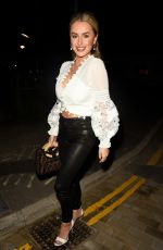 Amber Davies Enjoys a night out with her 9 to 5 The Musical co stars at Menagerie Restaurant and Bar in Manchester