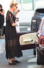 Amber Heard Out running errands with her mom in her classic maroon 1965 Mustang in Beverly Hills