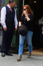 Amy Adams Checks out of her hotel in Soho,New York City