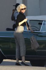 Ana de Armas On the set of Blonde in LA