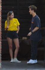 Ashley Benson Spending Labor Day with a friend at a bar in Studio City