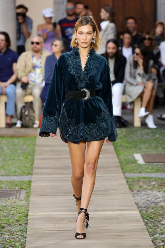 Bella Hadid At Etro show during the Milan Fashion Week