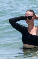 Bianca Elouise Hits the beach in Miami