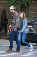Britt Robertson Out in NYC