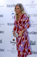 Camille Kostek Attends her September cover issue party on Oceandrive magazine