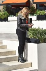 Carol Vorderman Spotted looking chic as she leaves a London Hotel