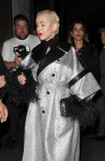 Christina Aguilera At LFW Love Magazine and Youtube Party at The Standard hotel in London