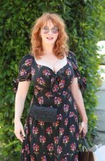 Christina Hendricks At InStyle Day of Indulgence Party in Brentwood