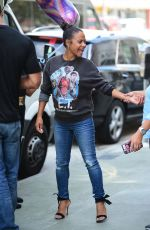 Christina Milian At her Beignet Box truck in Studio City