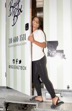 Christina Milian At work at her Beignet Box food truck in Los Angeles