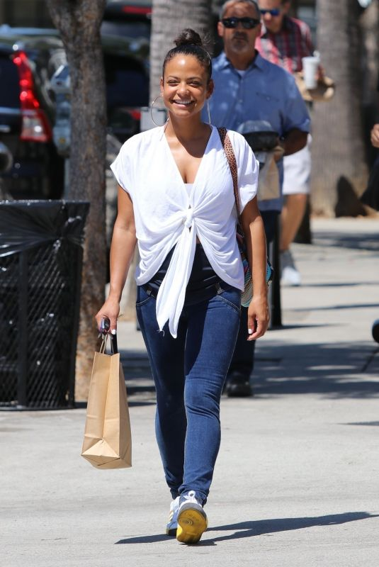 Christina Milian Goes to lunch at Joans on Third in Studio City