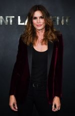 Cindy Crawford Attends the Saint Laurent Womenswear Spring/Summer 2020 show as part of Paris Fashion Week
