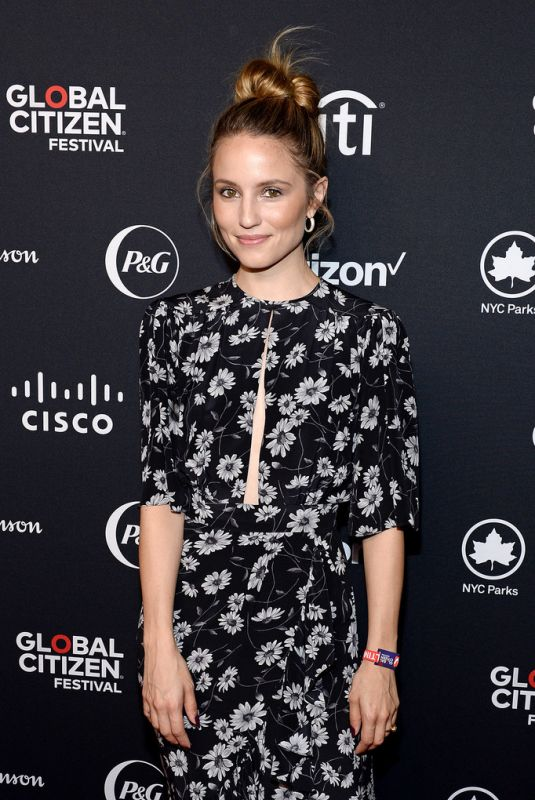 Dianna Agron At 2019 Global Citizen Festival: Power The Movement in NYC