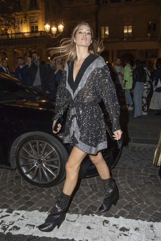 Doutzen Kroes Arriving at the Isabel Marant Womenswear SS 2020 Show in Paris