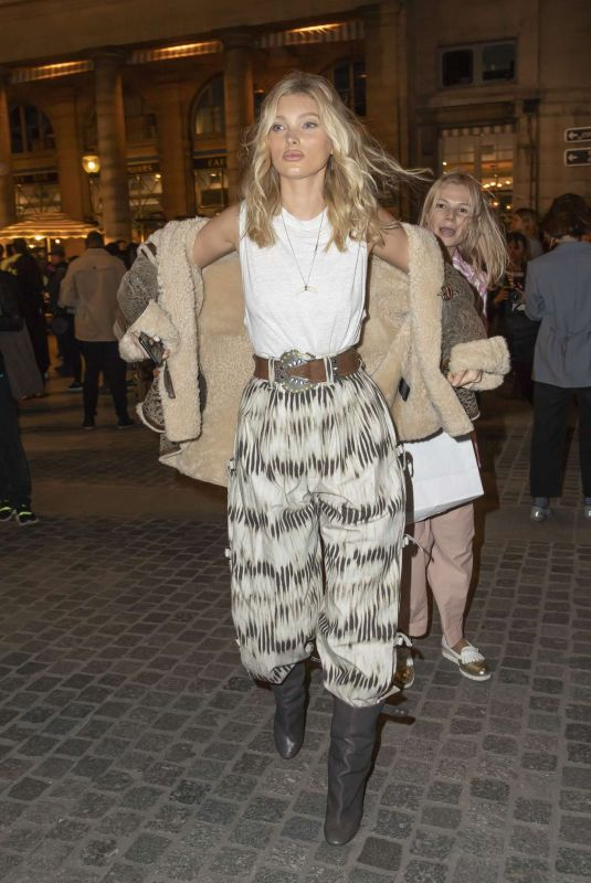 Elsa Hosk Arriving at the Isabel Marant Womenswear SS 2020 Show in Paris