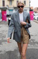 Elsa Hosk Seen out and about during Milan Fashion week