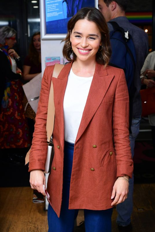 Emilia Clarke At What Girls Are Made of Press Night in London