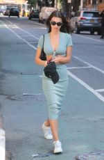 Emily Ratajkowski Shows off her taut tummy as she takes a walk in NYC
