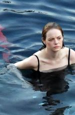 Emma Stone Filming an advertisement for Louis Vuitton in Capri