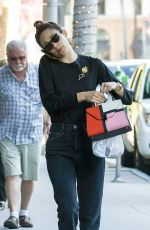 Emmy Rossum Seen out talking on her cell phone, Los Angeles