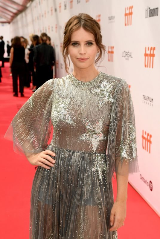 Felicity Jones At The Aeronauts Premiere at 2019 TIFF