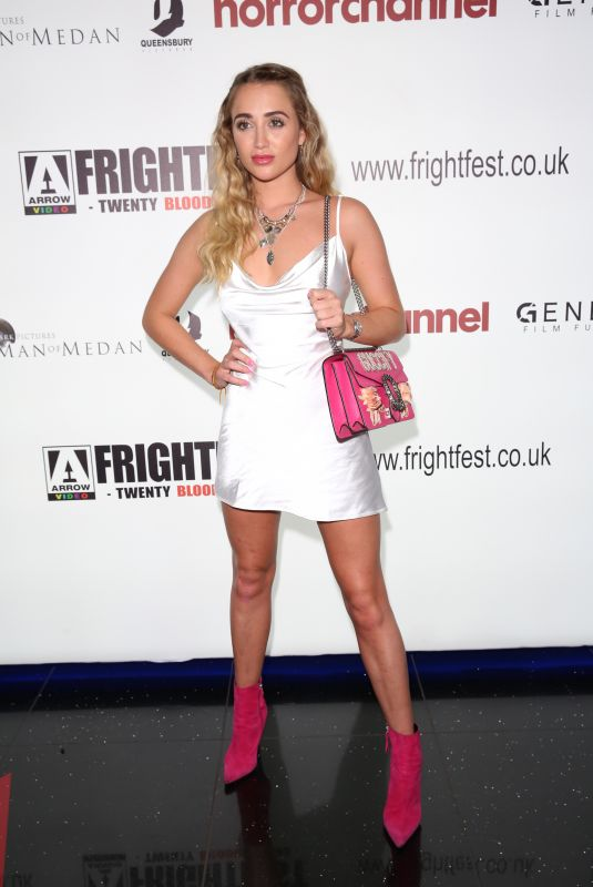 Georgia Harrison At Madness in the Method photocall during Frightfest 2019 in London
