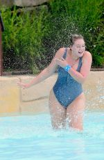 Iskra Lawrence Enjoying some time off as she visited Mountain Creek Water Park in NJ
