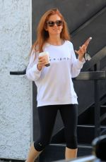 Isla Fisher Receives a parking ticket while out for a coffee on Melrose Place in West Hollywood