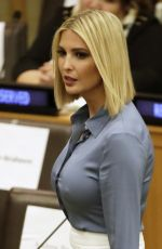 Ivanka Trump Arrives at a meeting on religious freedom at United Nations headquarters