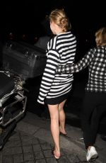 Jennifer Lawrence Shows off her legs in Paris