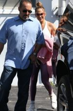 Jennifer Lopez Arrives for a gym session in Miami