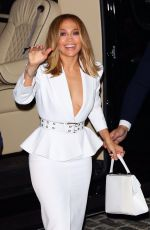 Jennifer Lopez Arrives to Ultra Beauty for a perfume launch party in New York