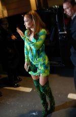 Jennifer Lopez Arriving at the Versace Fashion Show After Party in Milan