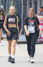 Josephine Skriver Out with a friend in NYC