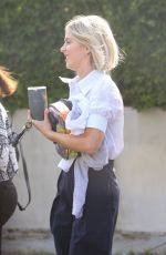 Julianne Hough Leaves office after Monday meetings with guests in Hollywood