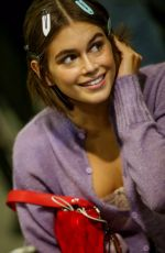 Kaia Gerber At the Alberta Ferretti Fashion Show in Milan
