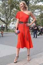 Karlie Kloss Outside Caroline Herrera fashion show during NYFW in New York City