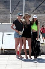 Kate Upton Visiting Panathenaic Stadium in Athens