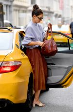Katie Holmes Getting out of a cab in NYC