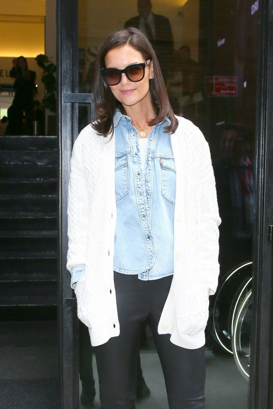 Katie Holmes Going to Ellie Tahari NYFW show in NY