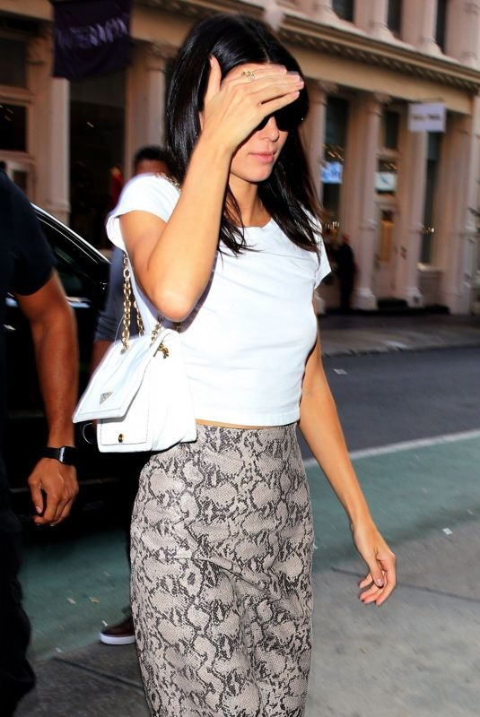Kendall Jenner At The Mercer hotel in NYC