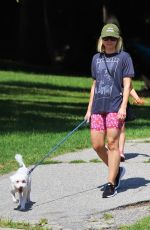 Kristen Bell Takes her adorable white pooch on a walk through Griffith Park in Los Angeles