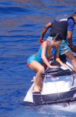 Kylie Jenner and Travis Scott have fun on a jet ski in Positano in Italy