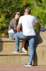 Lana Del Rey All smiling while taking a stroll with a mystery man in Central Park in New York City