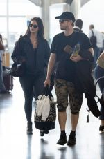Lana Del Rey Pictured with a mystery guy at JFK airport in New York City