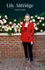 Larsen Thompson At Lily Aldridge Parfums launch event in NYC